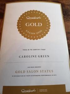 Gold Salon Status